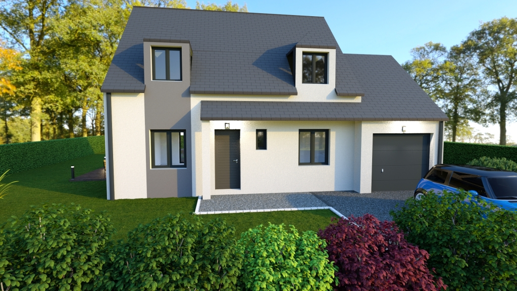 Maison moderne 4 chambres imoter for Projet maison moderne