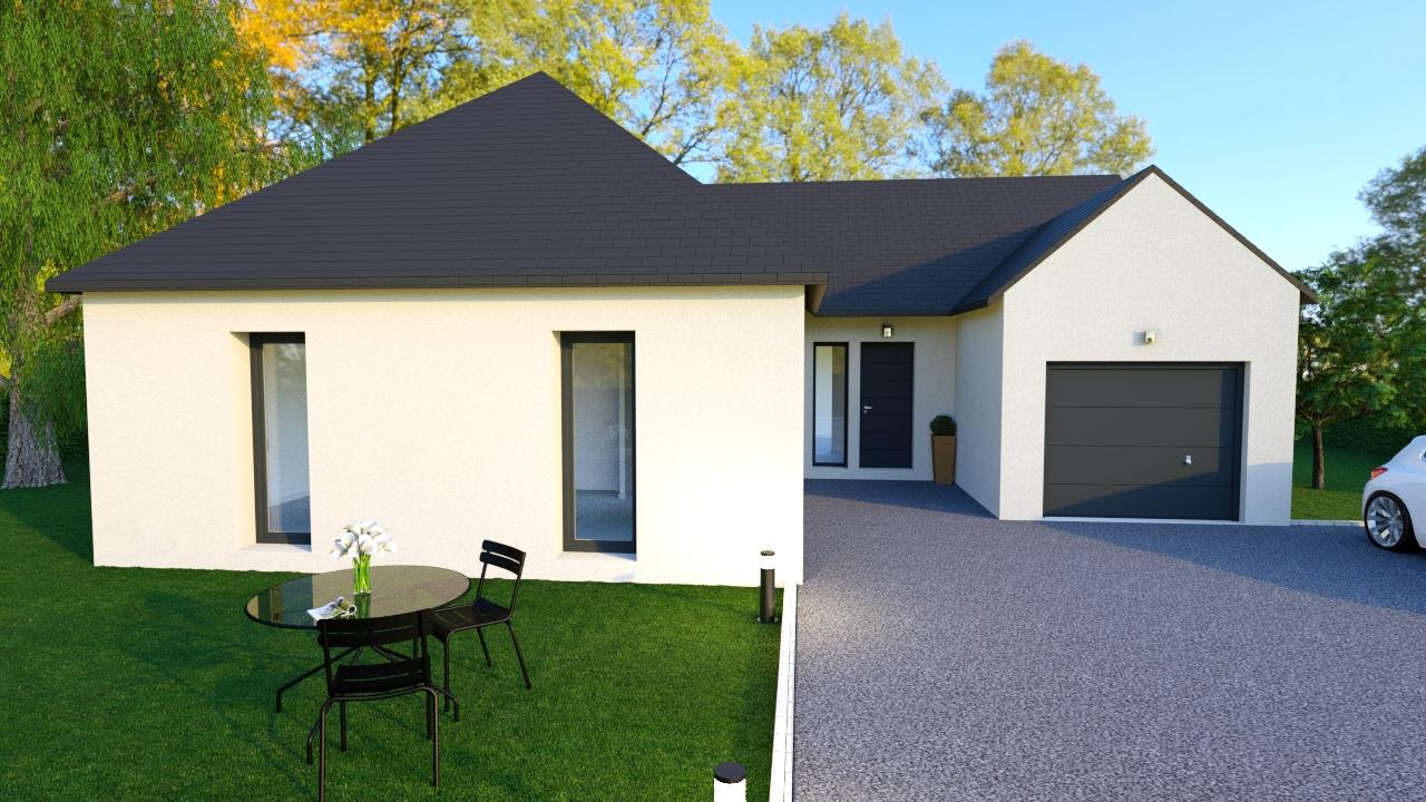 Maison moderne 3 chambres beaumont la ronce imoter - Maison moderne construction ...